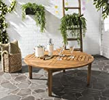 Safavieh Outdoor Collection Danville Teak Brown Round Table