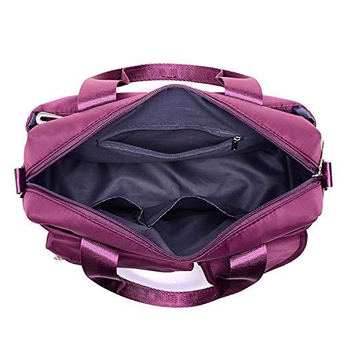 Oblique da capacità Borsa brillante Unisex Ad durevole moda alta viaggio Gorgeous Purple Una all'aperto spalla portatile Viola TxqgX