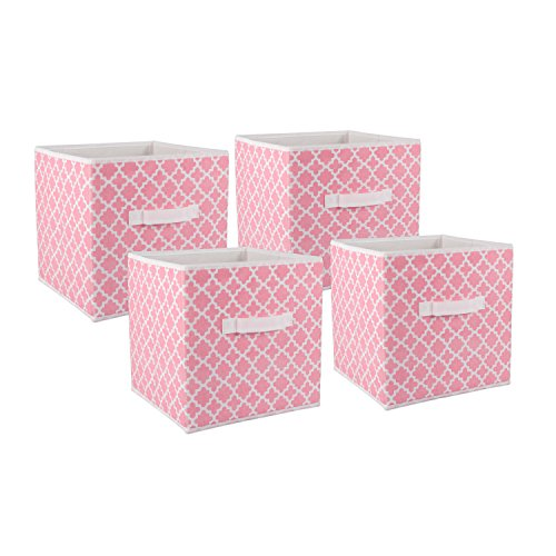 DII Foldable Fabric Storage Containers for Nurseries, Offices, Closets, Home Décor, Cube Organizers & Everyday Use, 11 x 11 x 11
