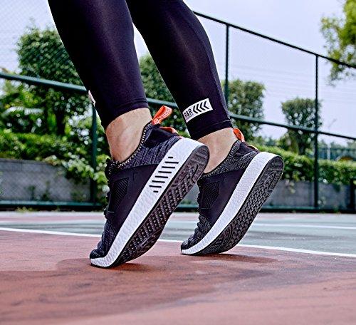 NEOKER Scarpe Sportive da Uomo Nero Running Scarpe 39-44