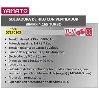 Telwin 7170110 Soldadura De Hilo Bimax162: Amazon.es: Industria ...