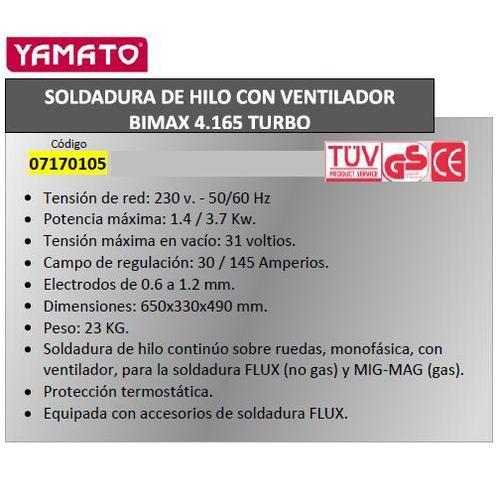 Telwin 7170110 Soldadura De Hilo Bimax162: Amazon.es: Industria, empresas y ciencia