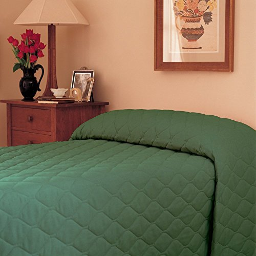 (Martex 1C75845 71-Inch x 102-Inch Bedspread, Twin Fitted, Forest Green, 1-Pack)