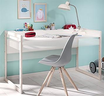 Wellemobel Minimundo Kinder Schreibtisch Hohenverstellbar Weiss