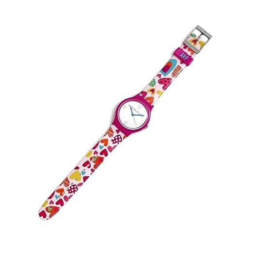 Agatha Ruiz de la Prada Reloj para Mujer Analógico Cuarzo japonés con Correa de Plástico AGR238C: Amazon.es: Relojes