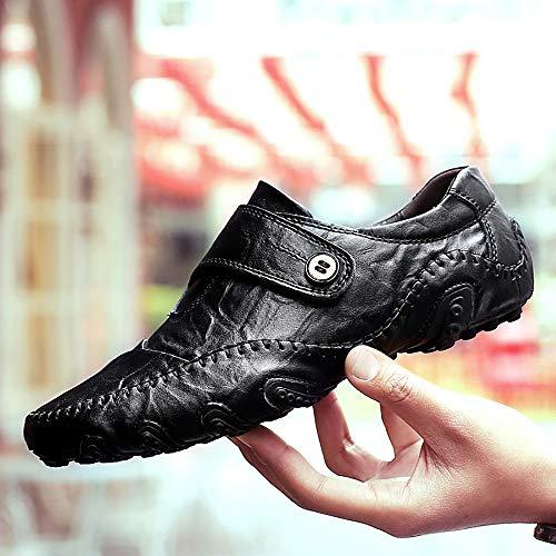 Garras De Sólidos De Gran Black Cuero Los De De Tamaño Hombres 39 De Los Los Zapatos Los De amp;TT Guisantes Zapatos Zapatos Black Ocho Casuales De Hombres Pescados W De SwEqYTp
