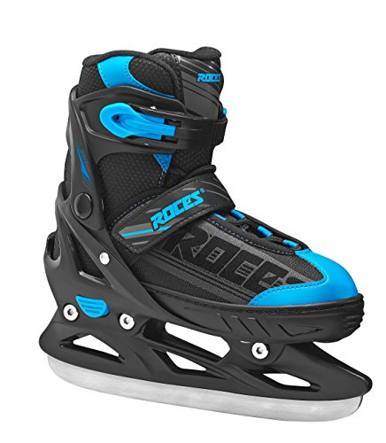 Roces Kinder Schlittschuhe Jokey Ice Boy Größenverstellbar, Black-Blue, 38/41, 450676-001