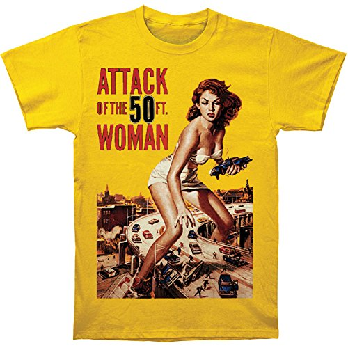 Attack Of The 50 Foot Woman Men's Attack Of The 50ft. Woman T-shirt Yellow