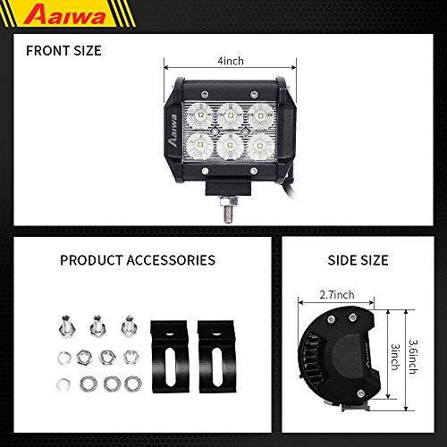 AAIWA-LED-Lights-Bars-LED-Work-Lights-4inch-18W-Flood-LED-Pods-Driving-Fog-Lights-for-Off-RoadTruck-Car-ATV-SUV-JeepBoat-Light5-Years-Warranty