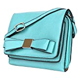 lg g pro 2 unlocked - Cindy Shoulder Handbag Clutch for LG G20 V20 V10 G5 G4 / G Stylo / Flex2 / Leon/Vista (Aqua Blue)