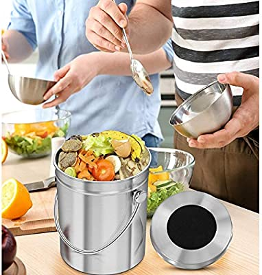 GRASSAIR Contenedor de compostaje de Cocina de 3 litros ...