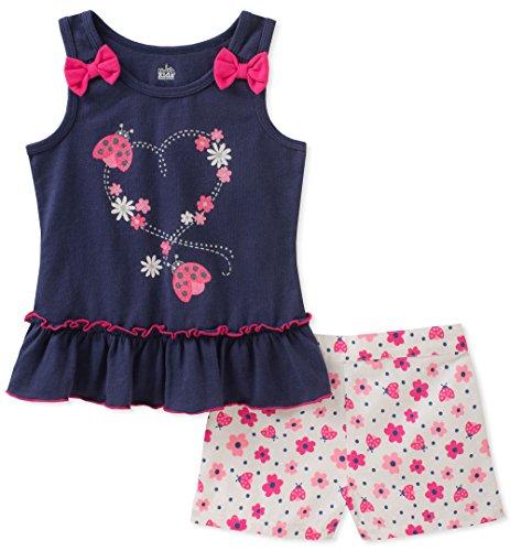 - Kids Headquarters Girls' Little 2 Pieces Shorts Set, Navy/Print 4