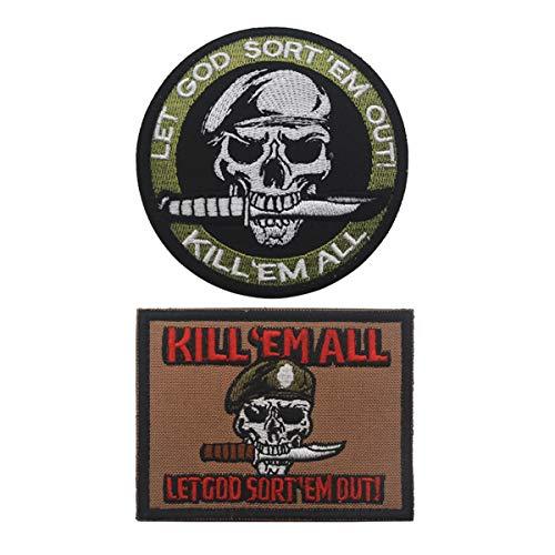 Funny Morale Patches,Kill Em All Let God Sort Em Out Tactical Patch for Backpack,Jacket,Uniform