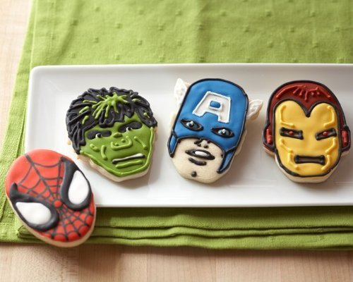 Marvel Comics Hero Cookie Cutters- The Incredible Hulk, Captain America, Spider-Man and Iron Man by Marvel