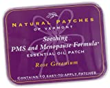 Natural Patches Of Vermont Rose Geranium PMS & Menopause Essential Oil Body Patches, 10-Count Tins