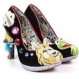 Irregular Choice X Muppets 'Super Couple', Miss Piggy heel pump, black, 39