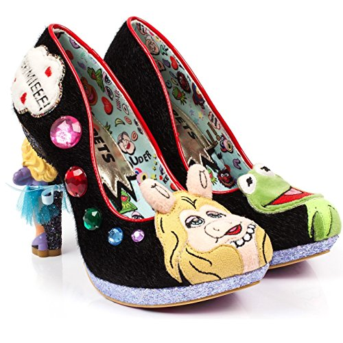 Irregular Choice X Muppets 'Super Couple', Miss Piggy heel pump, black, 41 by Irregular Choice