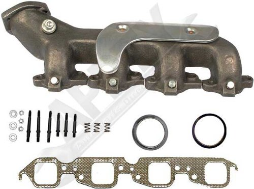 APDTY 785378 Exhaust Manifold Cast Iron Assembly Fits Left 454 7.4L Big Block Engine On Specific Models Listed Passenger-Side; Heat Shield /& Gaskets; Replaces GM 12551445, 10045731, 14103135