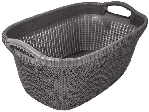 Curver Cesta Knit 40L, Marrón Topo, 57.5x36.5x25 cm, 228408