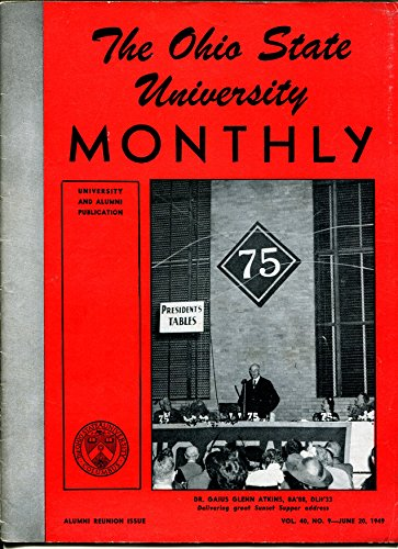 (Ohio State University Monthly 6/20/1949-photos-alumni info-Buckeyes-Dr Atkins-VG)
