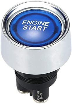 DC 12V 50A Blue Light Engine Start Push Start Ignition Switch for Racing Sport Off ON Momentary Switches Blue