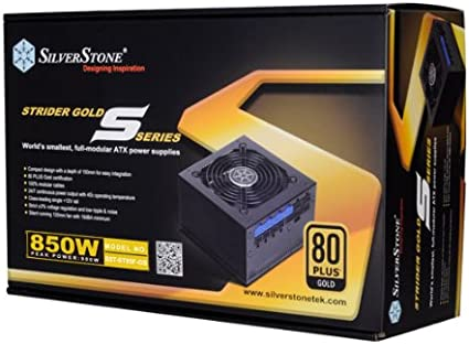 Silverstone Tek 1500W 80 Plus Gold Certified Fully Modular Active PFC Power Supply with Support for 8X PCI-E 8//6pin Connectors ST1500-GS
