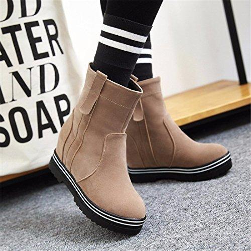 de cálido inferior Terry Botas Martin grueso invierno Apricot botas botas tamaño señoras gwEEzdq