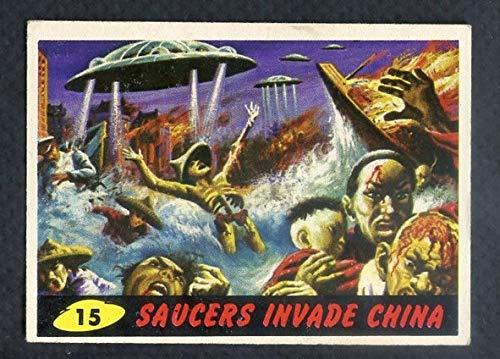 1962 Topps Mars Attacks #15 Saucers Invade China EX-MT 365432 Kit Young Cards