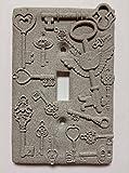 Keys (Steampunk) Stone/Copper/Patina Light Switch Cover (Custom) (Stone)