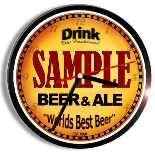 Personalized Custom Beer Ale Wall Clock