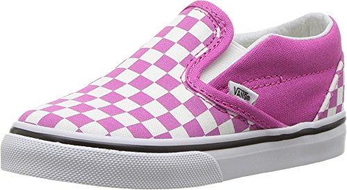 Vans Toddler T Slip ON Checkerboard Rasberry Rose True White Size 10 -