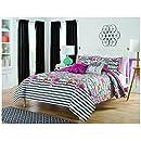 Vue Flower Power 5 Piece Reversible Comforter Collection, Queen