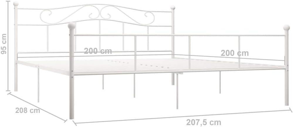 Goliraya Estructura de Cama de Metal Cama de Matrimonio Cama ...