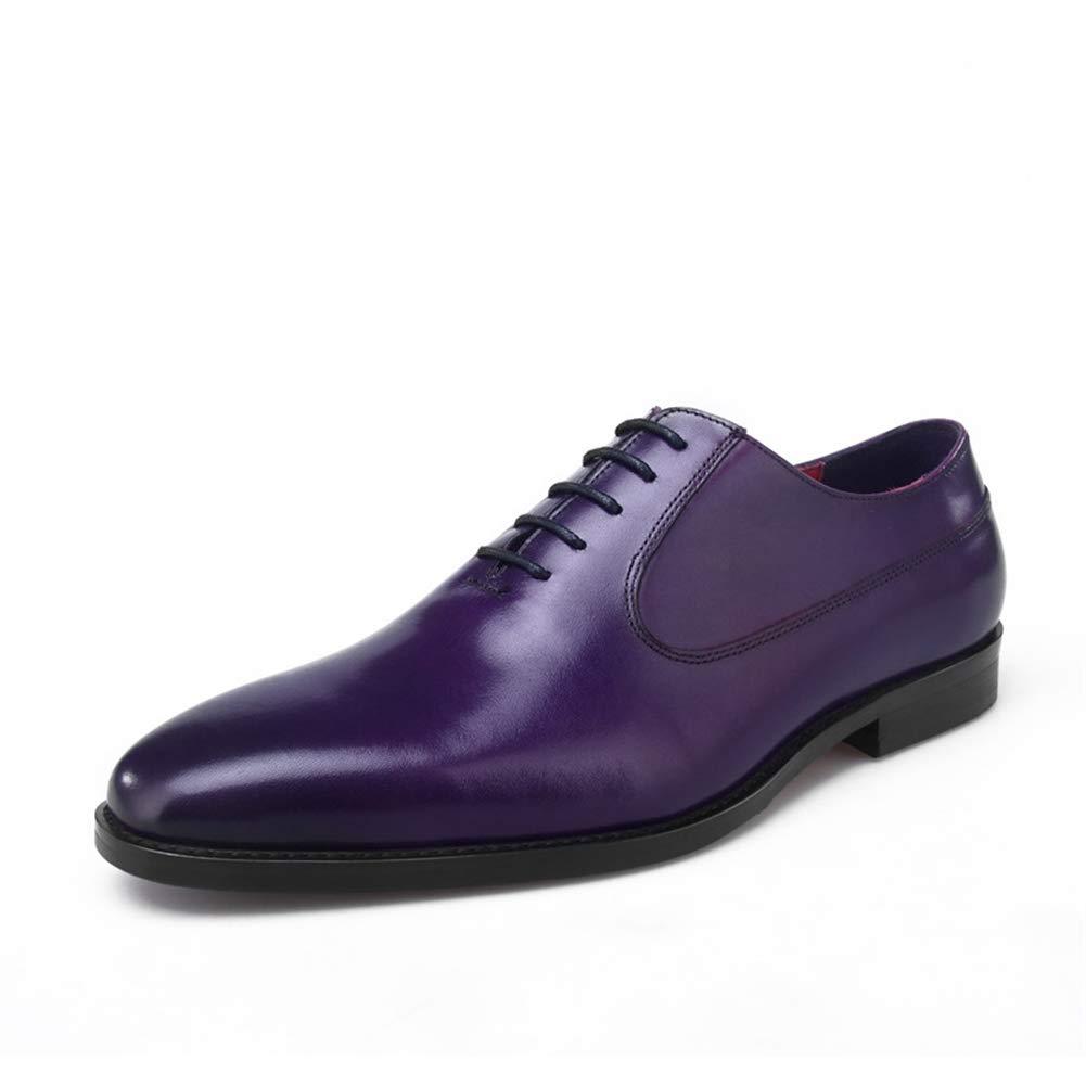Herren Männer Größe Business Schnürhalbschuhe Oxfords Spitzschuh Hochzeit Geschäft Purpurrot Größe Männer 38-44 EU Purple 684a6b