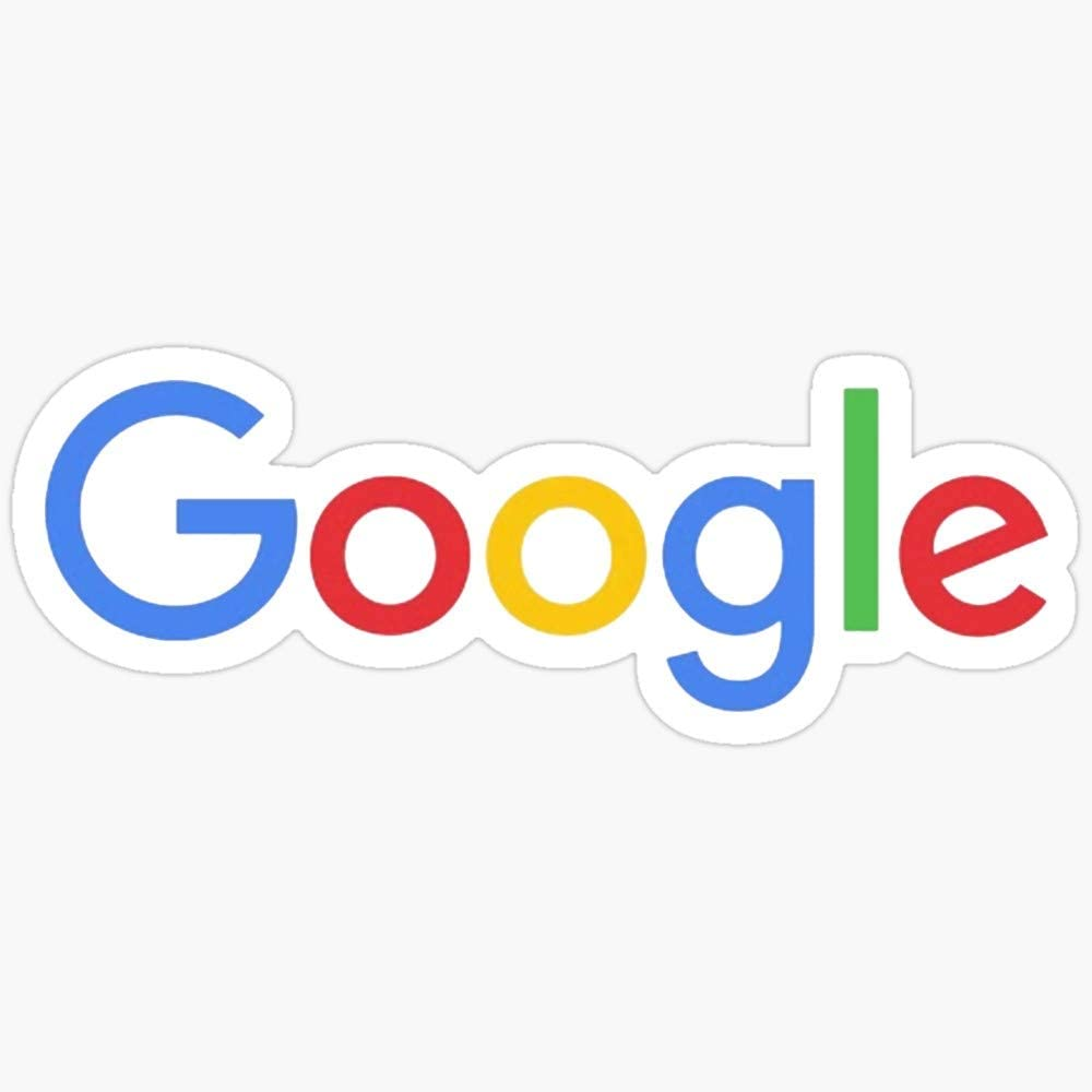 BeliNZStore New Google Logo Stickers (3 Pcs/Pack)