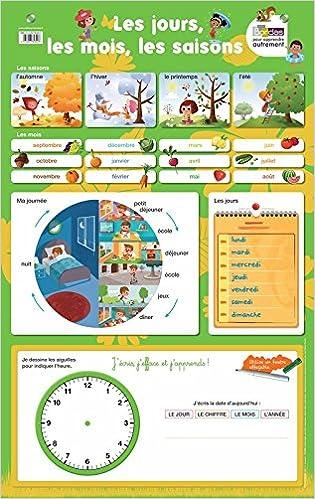 Lire en ligne Poster-ardoise - Les jours, les mois, les saisons pdf ebook