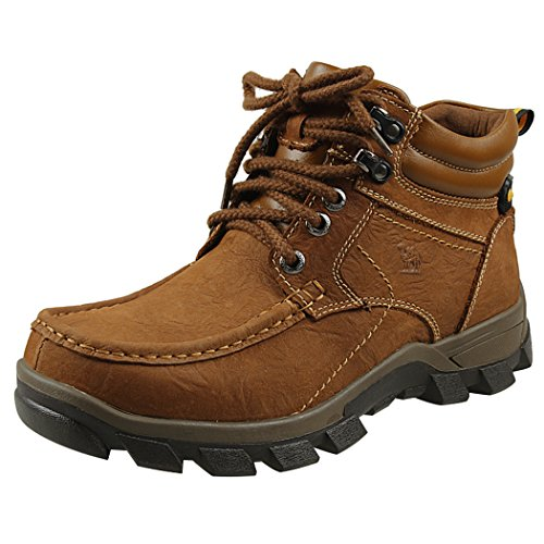 Modern Fantasy Mens Fur Nubuck Leather Logger Outdoor Leisure Sport Shoes Backpacking Boots Size 6 US Brown