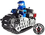 Brick Brigade Custom LEGO Combat Space Cycle Model Set w/ Blue Spartan Rider Minifig - Now with Tread Links!