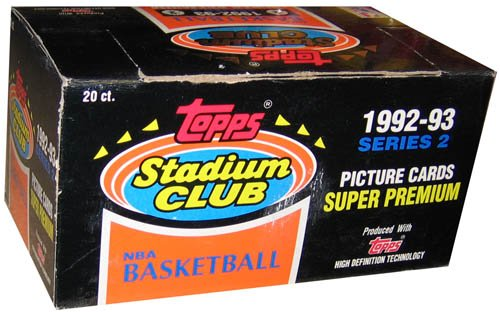 1992 Topps Stadium (1992/93 Topps Stadium Club Series 2 Basketball Jumbo Box - 20p)