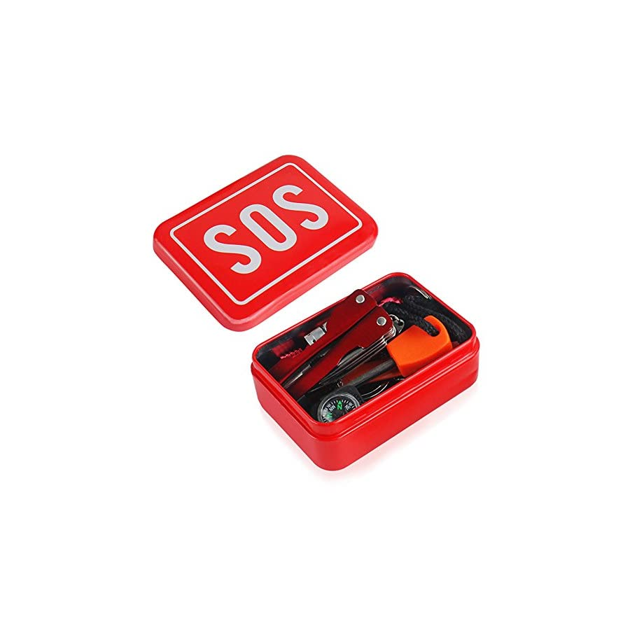 Emergency Survival Kit 6 In 1 Sos Equipment Outdoor Gear Wiring Diagram Starter Compass Tool With Wire Saws