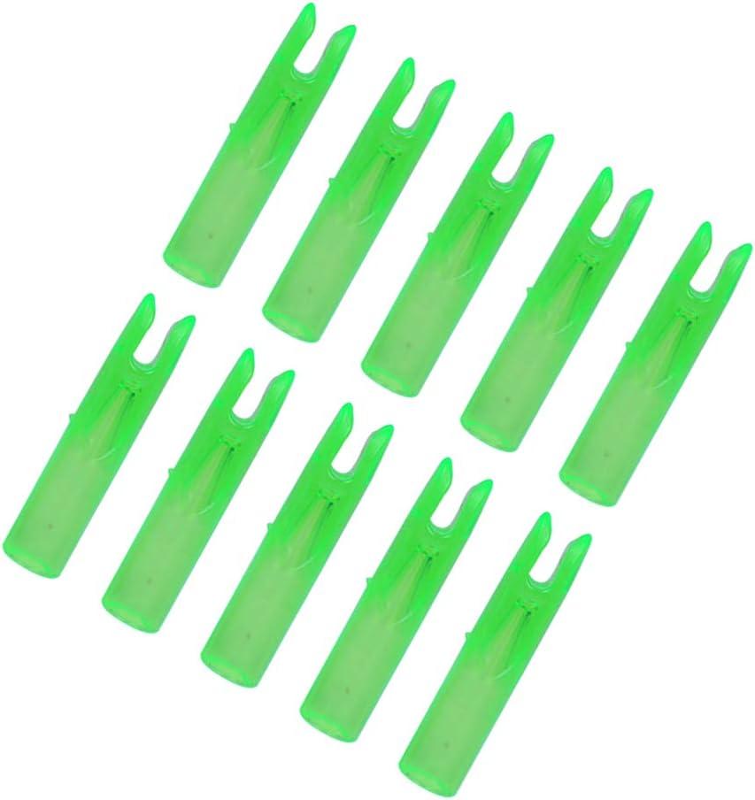 BESPORTBLE 50 Pezzi di Frecce per Tiro con LArco Inserti per La Coda di Caccia Accessori per La Sostituzione della Coda di Prua per Frecce da 6 Mm Verde Chiaro