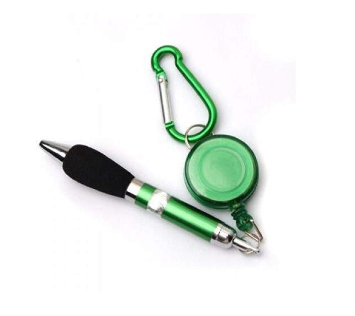 Novelty Multifunctional Travel Hiking Ballpoint Pen With Carabiner Clip Key Chain Keychain Keyring,Purple