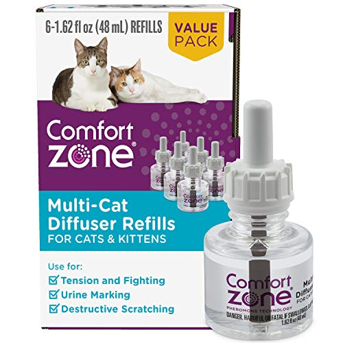 6 Refills   Multi-Cat Diffuser Refills (Value Pack) for a Peaceful Home   Veterinarian Recommend   Stop Cat Fighting and…