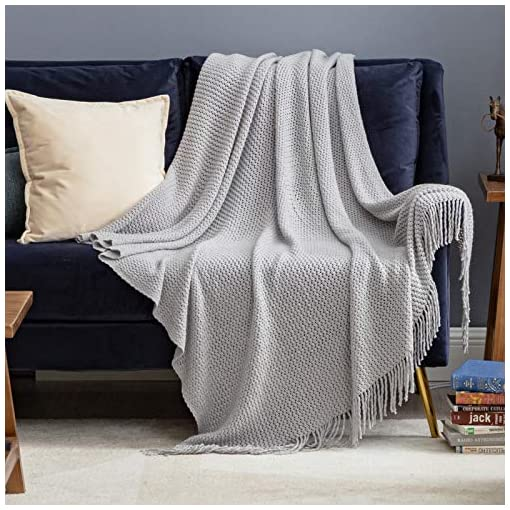 Bedroom Bedsure Throw Blankets for Couch, Soft Knit Woven Blanket, 50×60 Inch – Lightweight Farmhouse Decorative Blanket with… farmhouse blankets and throws