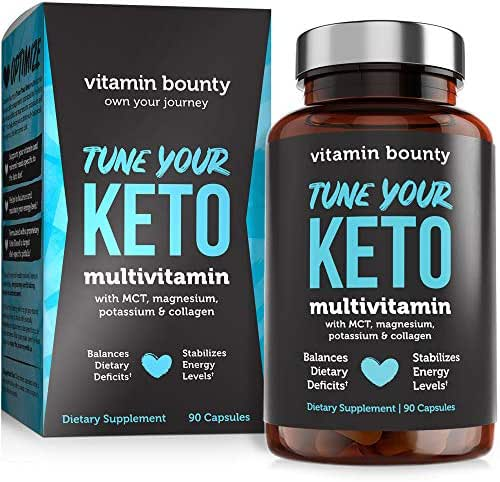 Tune Your Keto - Ketogenic Multivitamin + Electrolytes with MCT, Collagen, Magnesium, Potassium, MCTSmart™