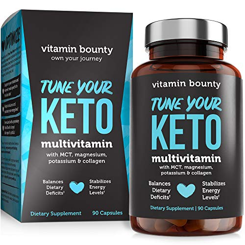 Tune Your Keto – Ketogenic Multivitamin + Electrolytes with MCT, Collagen, Magnesium, Potassium, MCTSmartTM