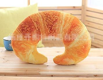 157quot Stuffed Short Plush Breakfast Bread U Shaped Food Neck Pillow Cushions Nap Doll