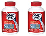 Move Free Advanced Plus MSM and Vitamin D3, 80 tablets - Joint Health Supplement with Glucosamine and Chondroitin, 120 Count, 2 Pack
