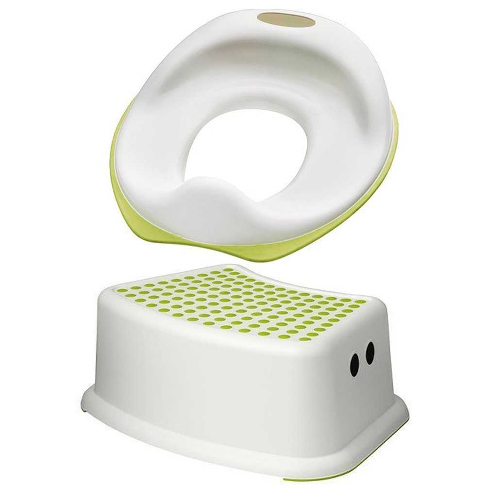 IKEA TOSSIG CHILD TRAINING TOILET SEAT WITH FOOT STOOL PERFECT COMBINATION FOR TOILET TRAINING