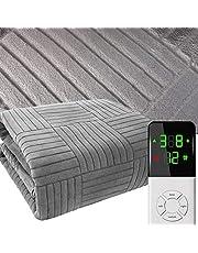 Electric Blanket Flannel I 9 Heat Settings I 1-12 h Timer I Electric Blanket I Blanket I Blanket I Blanket 60W Blanket I Gray (Size : 180 * 150cm)